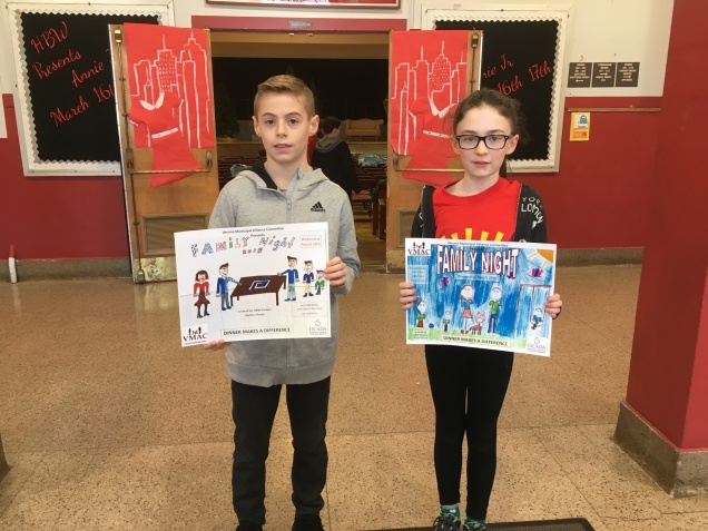 2018 Family Night poster contest: Fiona Church and Dominic Houck